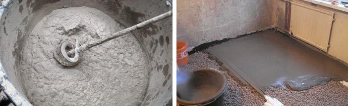 как приготовить цементный раствор для заливки